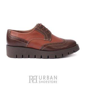 Pantofi casual dama din piele naturala, Leofex - 180 maro-cognac