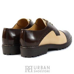 Pantofi casual din piele naturala - 399 taupe-maro