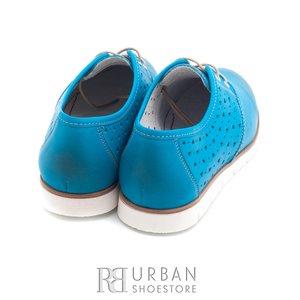 Pantofi casual din piele naturala - 407-1 albastru