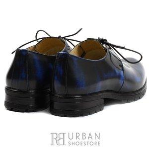 Pantofi casual din piele naturala - 616 blue