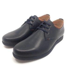 Pantofi casual din piele naturala -  787-1 Blue Box