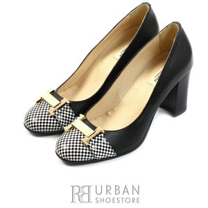 Pantofi casual din piele naturala - 792 negru-sah