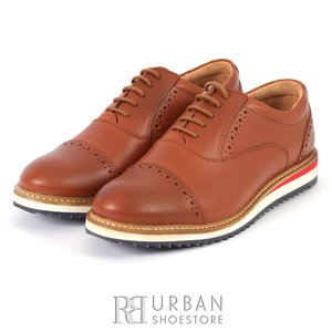 Pantofi casual barbati din piele naturala, Leofex - 818 cognac box
