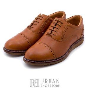 Pantofi casual din piele naturala - 842 cognac