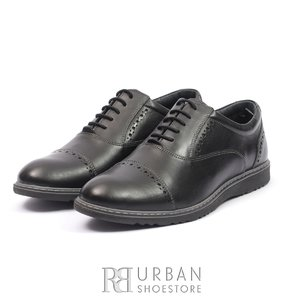 Pantofi casual din piele naturala - 842 Negru Box