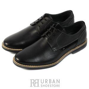Pantofi casual din piele naturala - 845 negru