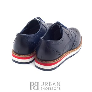 Pantofi casual din piele naturala - 846 blue