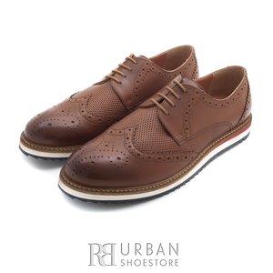 Pantofi casual din piele naturala - 846 cognac