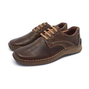 Pantofi casual din piele naturala - 918 Cognac Box
