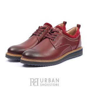 Pantofi casual din piele naturala- 969 Visiniu