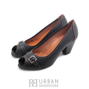 Pantofi casual din piele naturala lacuita - 276-1 negru