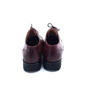 Pantofi casual din piele naturala Leofex- 095-1 Visiniu