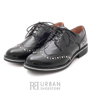 Pantofi casual din piele naturala Leofex - 096 negru