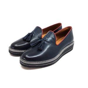 Pantofi casual din piele naturala Leofex - 189 Blue Box