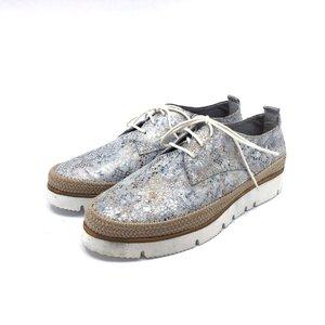 Pantofi casual din piele naturala Leofex- 198 Bej mozaic