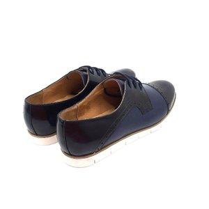 Pantofi casual din piele naturala Leofex - 399 Blue