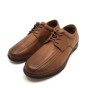 Pantofi casual din piele naturala Leofex - Mostra Santi Cognac Box