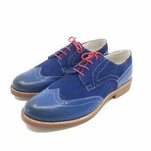 Pantofi casual din piele naturala- Mostra Blue Marine