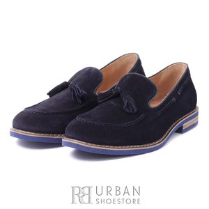 Pantofi casual-eleganti din piele intoarsa - 922 blue