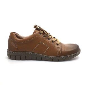 Pantofi casual/sport dama din piele naturala,Leofex-Mostra 092 Cognac Box