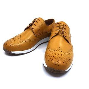 Pantofi casual/sport din piele naturala Leofex - Mostra Kevin Mustar