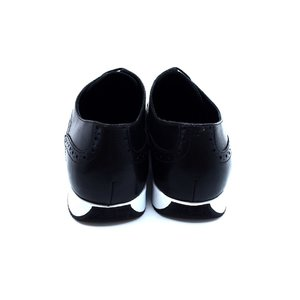 Pantofi casual/sport din piele naturala Leofex - Mostra Kevin Negru Box