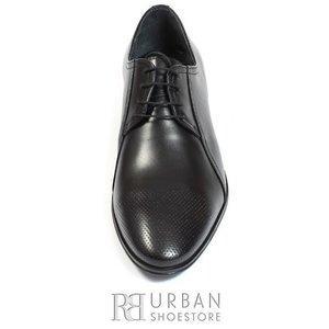 Pantofi copii Derby din piele naturala - 743 negru box