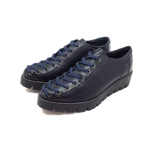 Pantofi casual dama cu siret pana in varf din piele naturala,Leofex- 194 Blue Box
