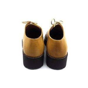 Pantofi cu siret pana in varf Leofex- 194 Mustar Box