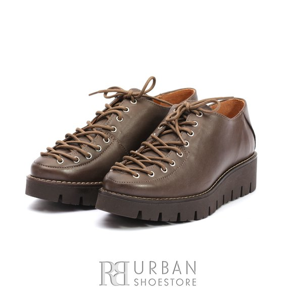 Pantofi cu siret pana in varf Leofex- 194 Taupe Box