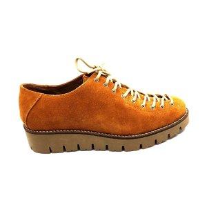 Pantofi cu sireta pana in varf Leofex - 194 B7 Mustar