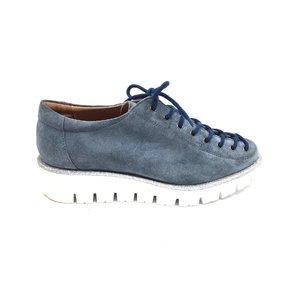 Pantofi dama casual cu siret pana in varf Leofex- 194 Gri Velur
