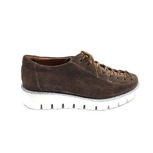 Pantofi dama casual cu siret pana in varf Leofex- 194 Taupe Velur
