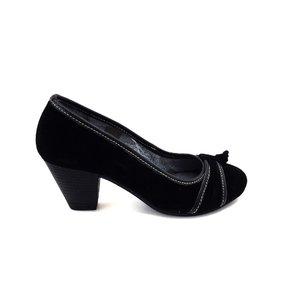 Pantofi dama casual din piele intoarsa - 476 Negru Velur