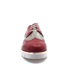 Pantofi dama casual din piele naturala, Leofex - 173 rosu box sarpe