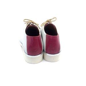 Pantofi dama cu siret pana in varf Leofex- 194-1 Fuxia Box
