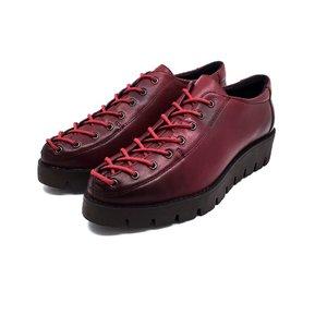 Pantofi dama cu siret pana in varf Leofex- 194 Visiniu Box Deschis