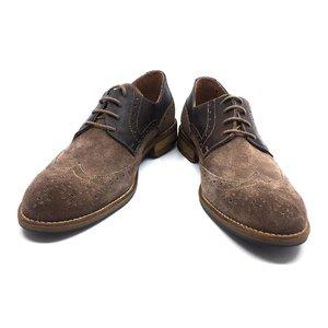 Pantofi de tip Derby din piele intoarsa -  Mostra Leonard Taupe Velur