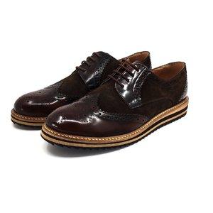 Pantofi derby casual din piele naturala - Mostra 846 Maro