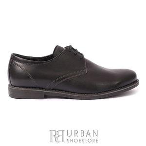 Pantofi Derby din box pentru copii - 578 negru