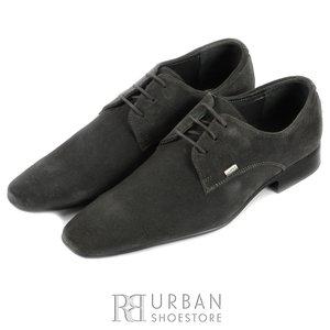 Pantofi Derby din piele intoarsa - 605 gri