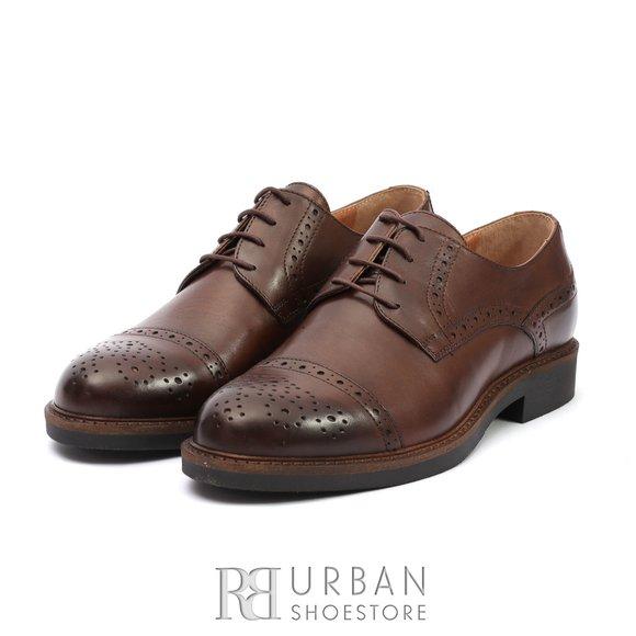 Pantofi Derby din piele naturala Leofex - 537-1 Maro
