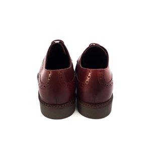Pantofi Derby din piele naturala Leofex - 537-1 visiniu box
