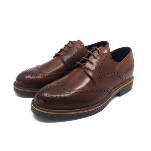 Pantofi Derby din piele naturala Leofex-Mostra Bernadette Maro Box
