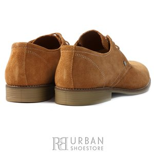 Pantofi Derby din velur - 578 capuccino