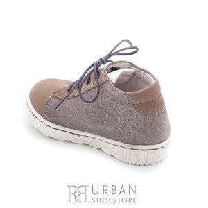 Pantofi din piele naturala – 128-1 taupe-argintiu