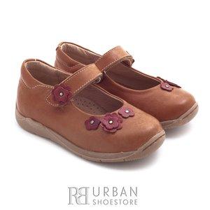 Pantofi din piele naturala – 129-f-1 camel box