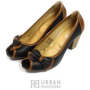 Pantofi din piele naturala - 276 negru-maro