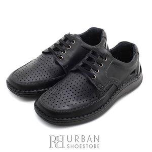 Pantofi din piele naturala - 759 negru