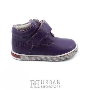 Pantofi din piele naturala box, pentru copii – 123 mov